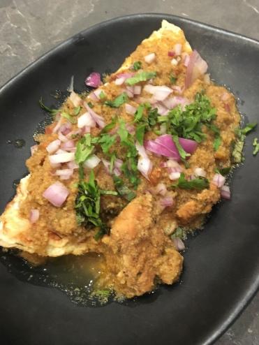 Breakfast buffet- Goan omelette!